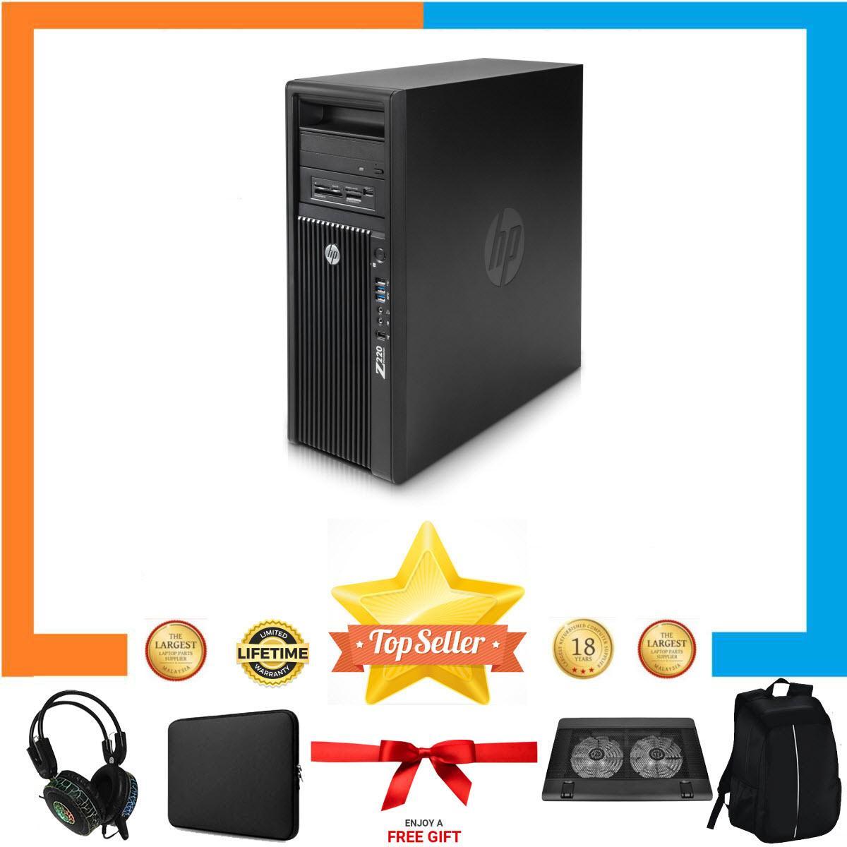 Máy Tính Chơi Game HP WORKSTATION Z220 MT Nguyên Bản, Chạy CPU Xeon E3 1240 V2, Ram ECC 8GB, SSD 120GB, HDD 2TB, GTX 1050 2GB + Bộ Quà Tặng