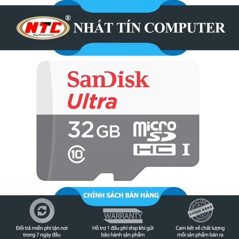 Thẻ nhớ MicroSDHC SanDisk Ultra 32GB Class 10 80MB/s - Version 2018 (Xám)