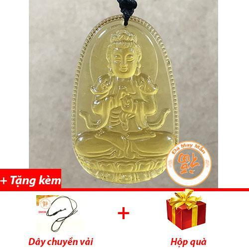 Mặt Dây Chuyền Phật Bản Mệnh Như Lai Đại Nhật Lưu Ly Vàng Nhí