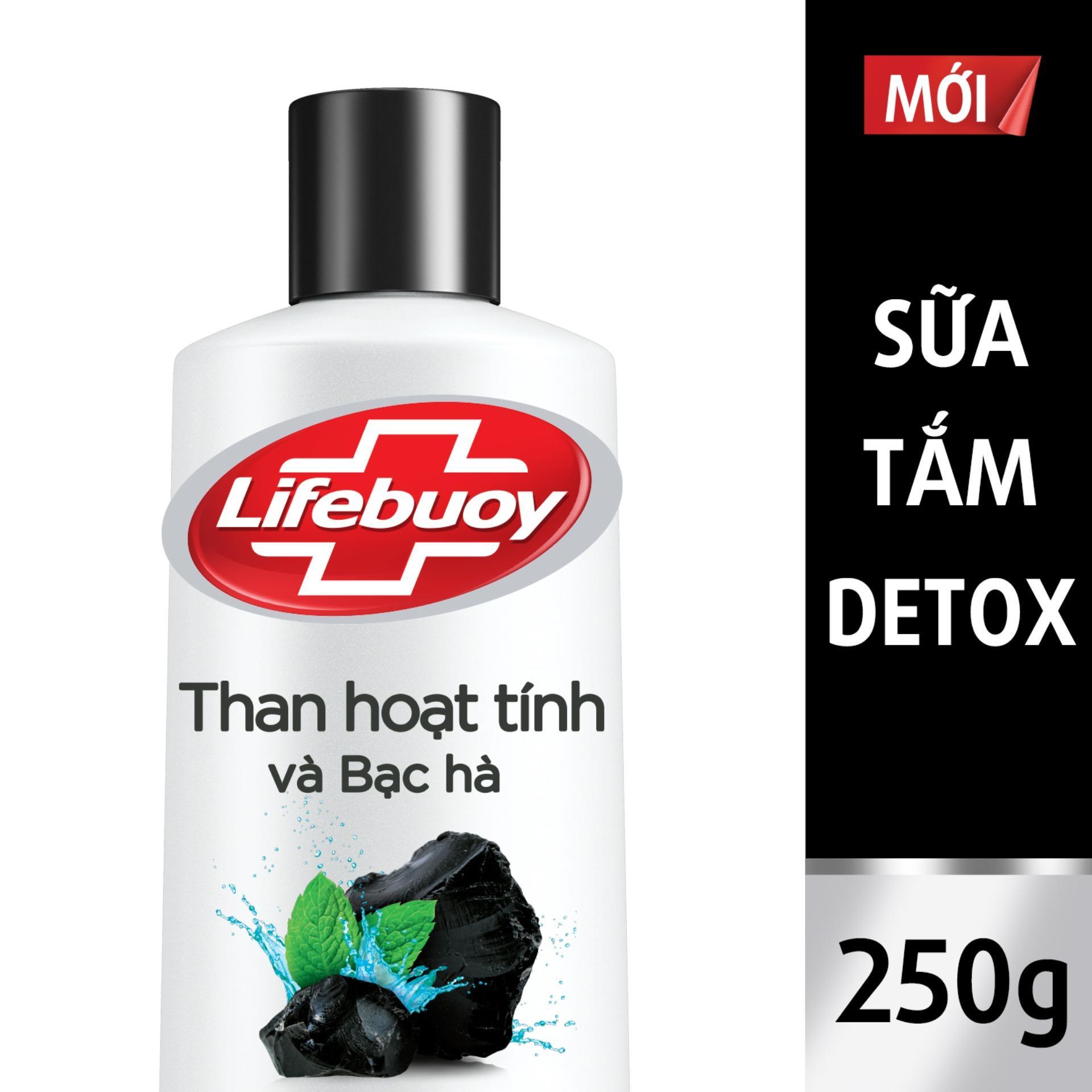 Sữa tắm Detox Lifebuoy - Than hoạt tính & Bạc hà 250g nhập khẩu