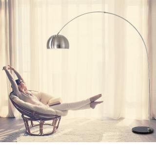 Đèn đứng để sàn trang trí phòng khách hiện đại BOW Inox - Tặng kèm bóng LED cao cấp thumbnail