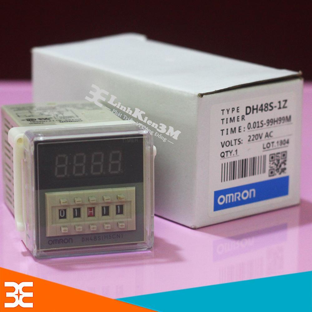 Rơ Le Thời Gian OmRon DH48S-1Z 220VAC 0.1S-99H (1 Cặp Tiếp Điểm)