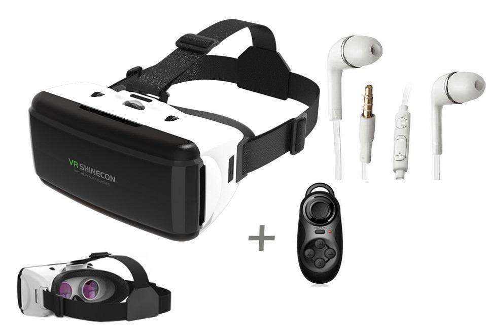 Kính thực tế ảo VR Shinecon G06 và tay chơi game Android Bluetooth tặng tai nghe J5