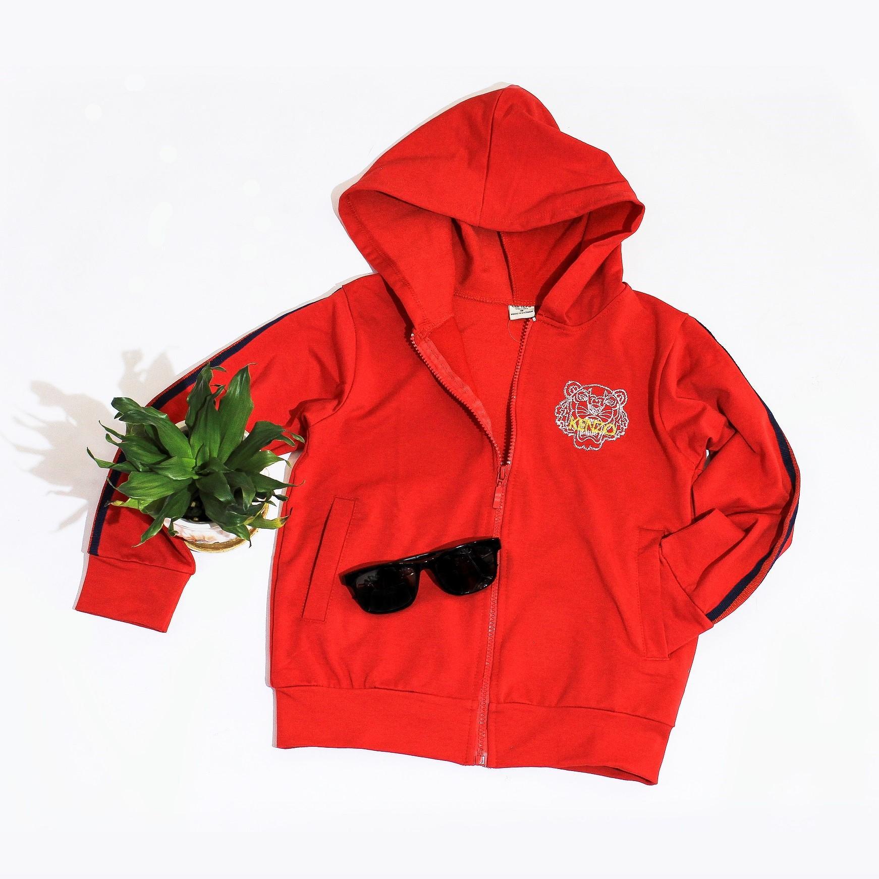 Giá bán Áo khoác bé gái đỏ viền tay Knzo