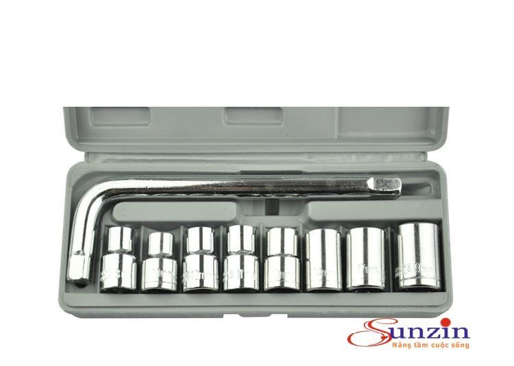 Bộ đầu 8 khẩu dùng để vặn ốc dành cho thợ chuyên nghiệp (vặn ốc từ 8mm - 19mm)
