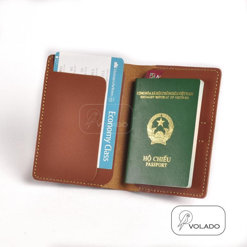 Bao Da Hộ Chiếu Passport Da Bò Thật 100% Khâu Tay - BicycleSaigon