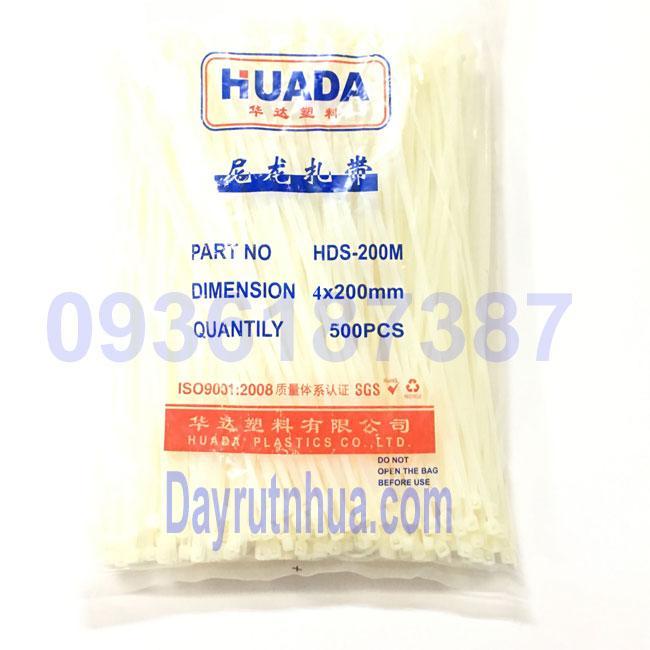 Dây Rút Nhựa 20cm - 500 Cai  (2.6x200 Mm) đặc điểm Dẻo Dai, độ Bền Cơ Học Cao, Chịu Nhiệt độ Tốt Khi Sử Dụng Có Giá Rất Tốt