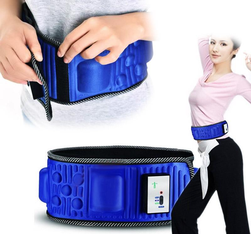 Đai massage giảm mỡ bụng Vibroaction x5 (xanh)