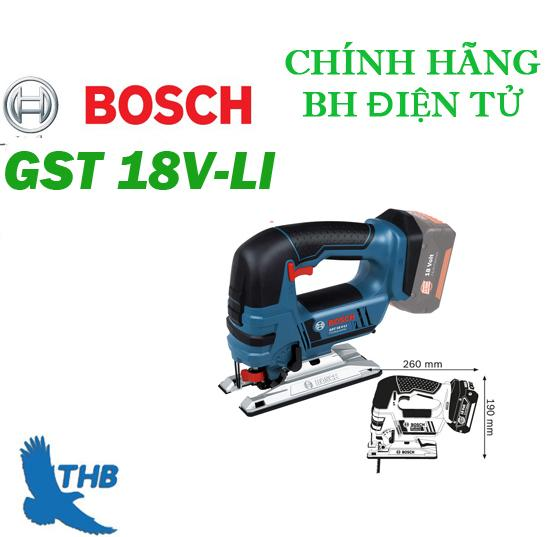 Máy cưa lọng dùng pin Bosch GST 18V LI