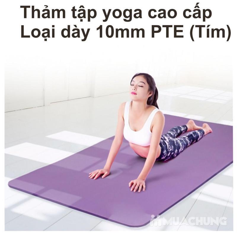 Thảm Tập Yoga Loại ( 10 mm ) Cao Cấp Sản Xuất 2018 Loại 1 +( TẶNG KÈM TÚI ĐỰNG )