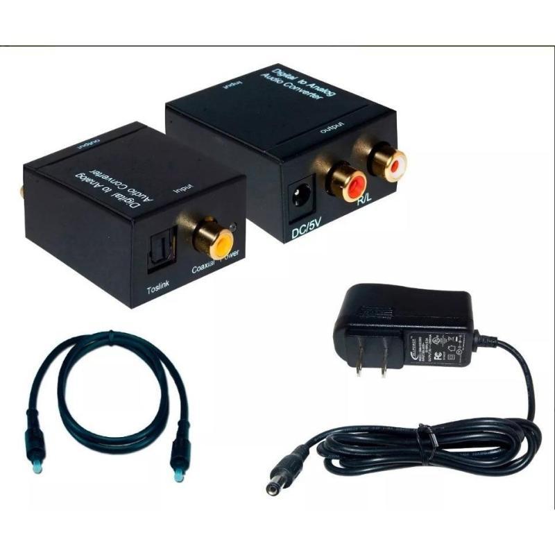 Bảng giá Bộ chuyển đổi âm thanh từ tivi mỏng sang âmply (Optical -> Av) Phong Vũ