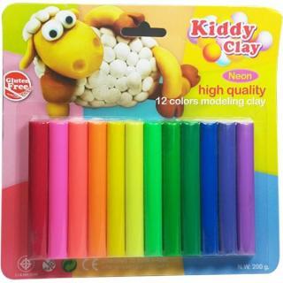 Bộ đất sét nặn 12 màu Kiddy Clay Thái Lan - Diệp Linh thumbnail