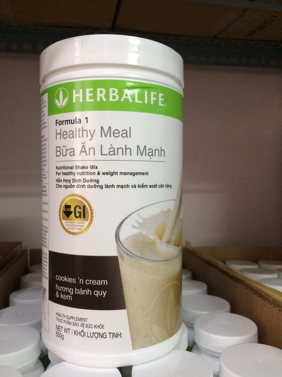 Hình ảnh Hỗn hợp dinh dưỡng công thức 1 Herbalife - Hương bánh quy kem (Sữa Herbalife F1)