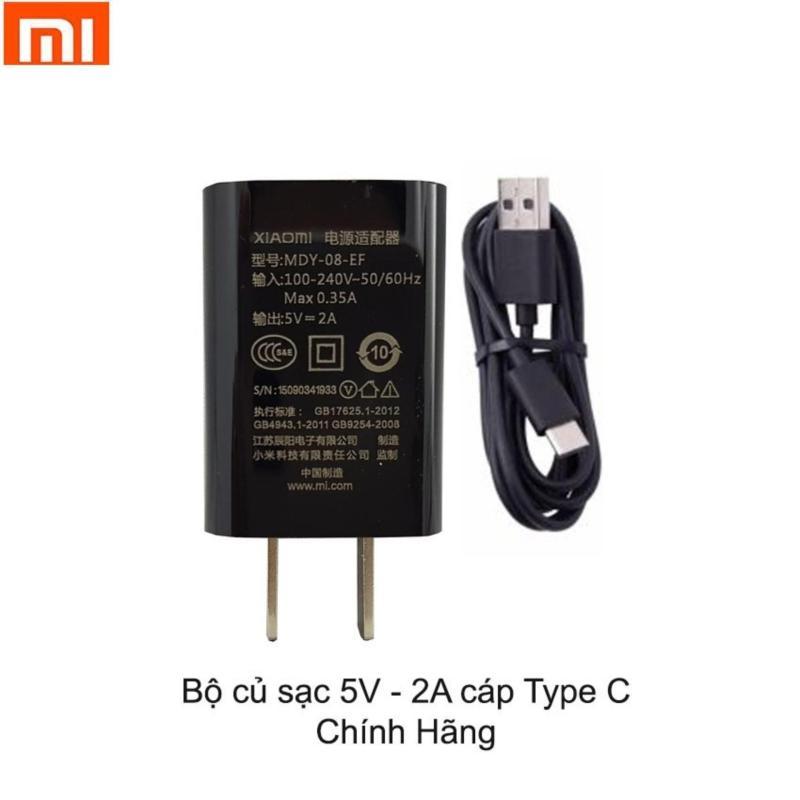 Bộ Củ + Cáp Sạc 2A Xiaomi Type C Cho Xiaomi Mi A1 - Hàng Nhập Khẩu