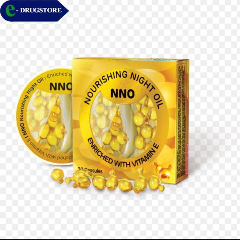 NNO(Nourishing Night Oil) Viên dưỡng trắng da ban đêm. Hộp 30 viên nang mềm cao cấp