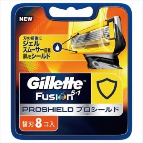 Vỉ 8 Lưỡi Dao Cạo Râu Gillette Fusion Proshield 5+1 lá chắn chuyên nghiệp