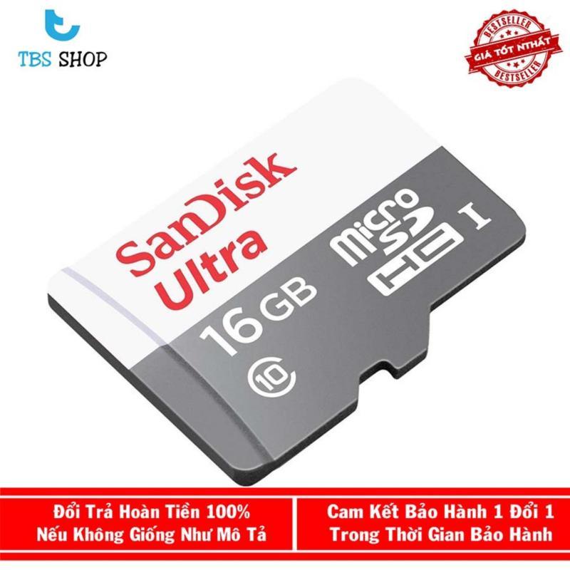 Thẻ Nhớ SanDisk 16G Ultra 80MB/s Chính Hãng Bảo Hành 5 năm