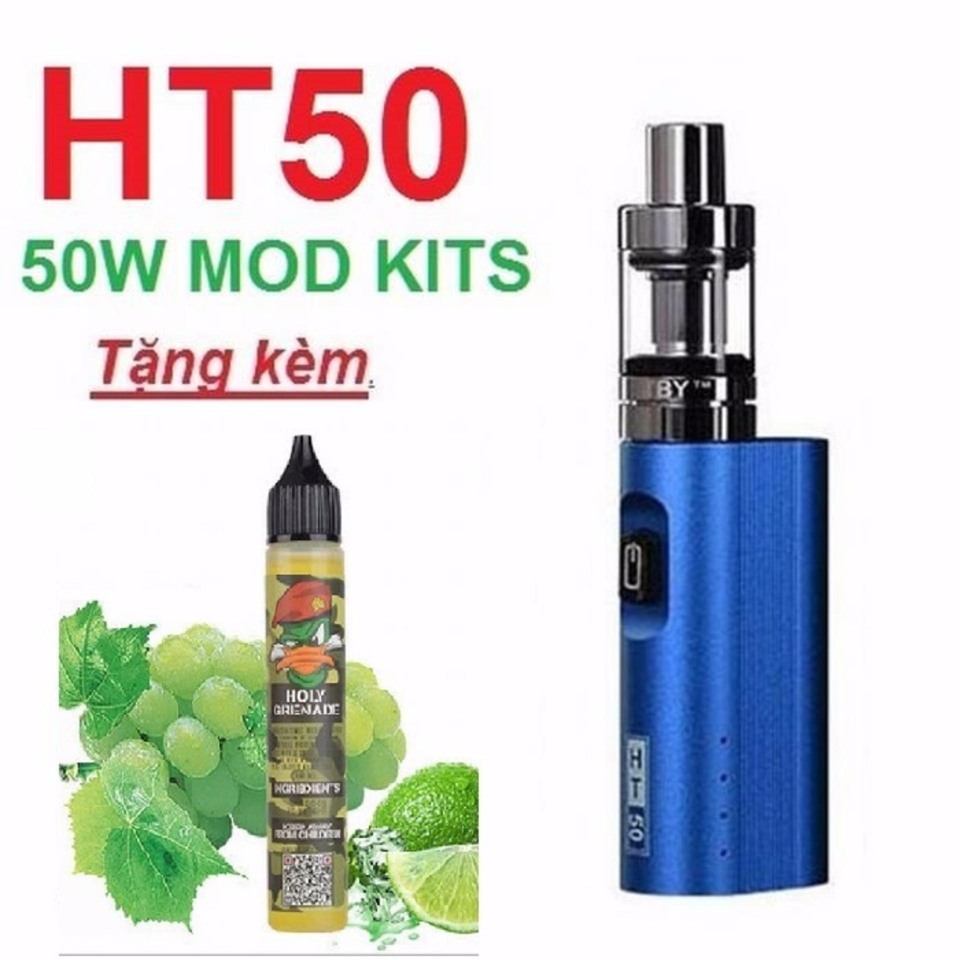 Hình ảnh Bộ thuốc lá điện tử HT50 50w siêu khói màu Xanh
