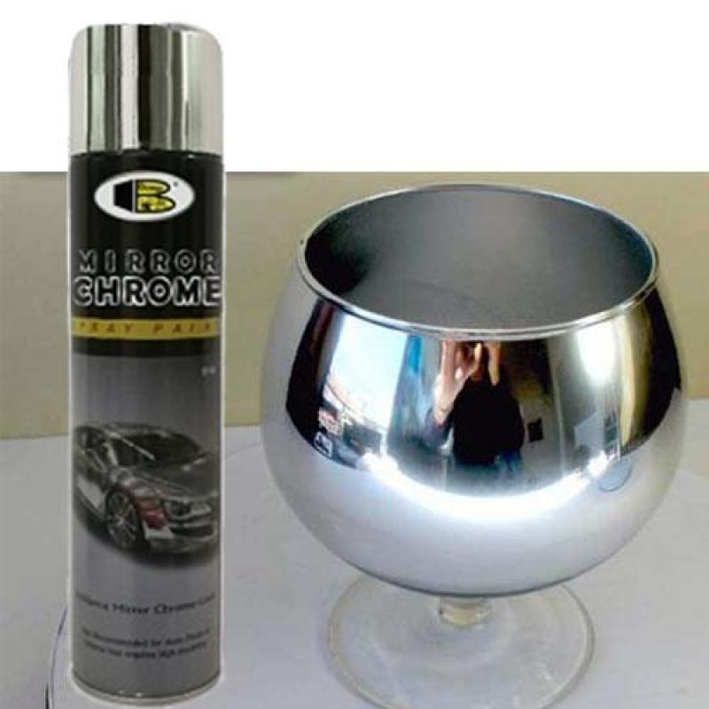 Sơn xịt mạ inox Mirror chrome Bosny - inox sáng bóng