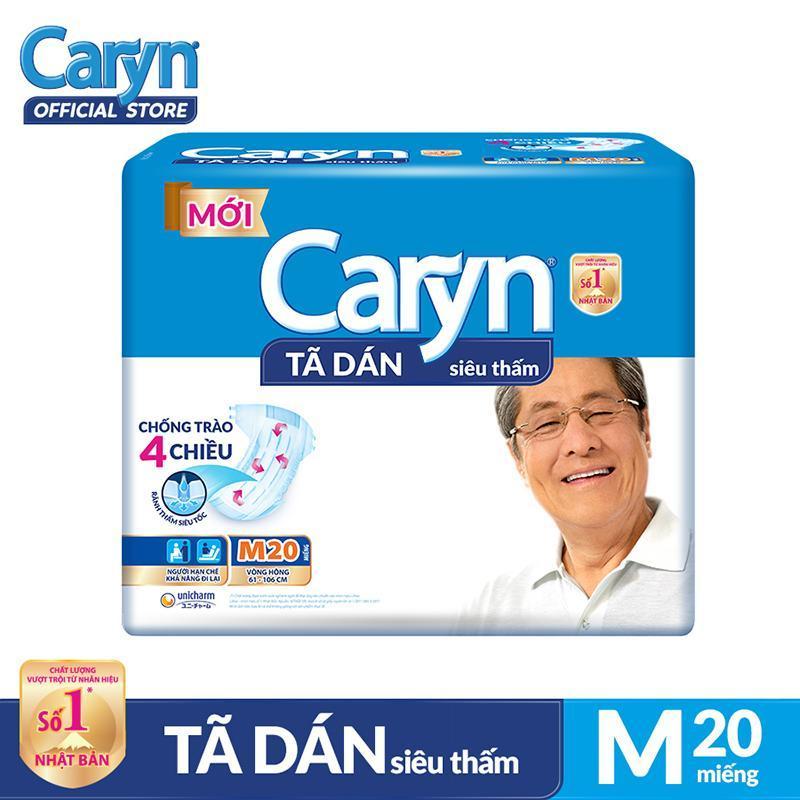 Tã dán Caryn siêu thấm size M 20 miếng tốt nhất