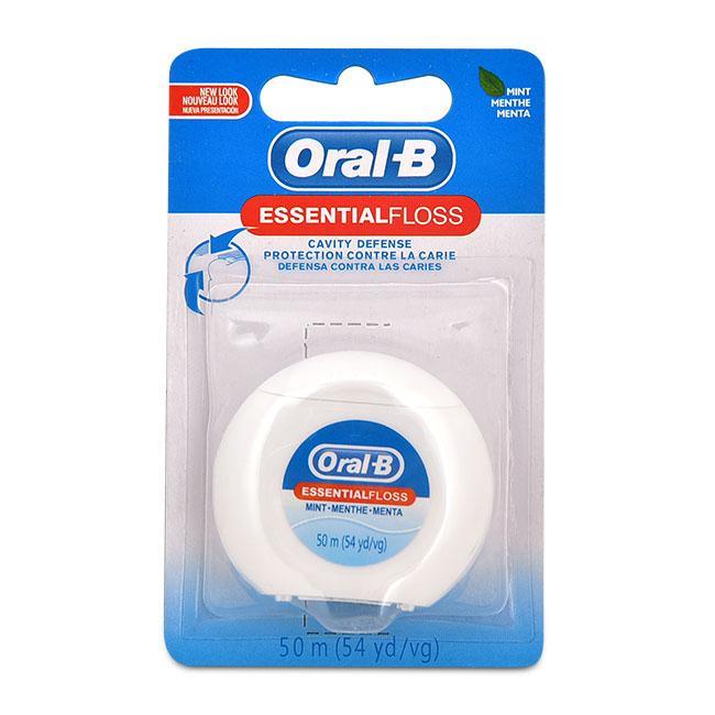 Bộ 3 Chỉ Nha Khoa Oral B Essential Floss Hương Bạc Hà - 50m x 3