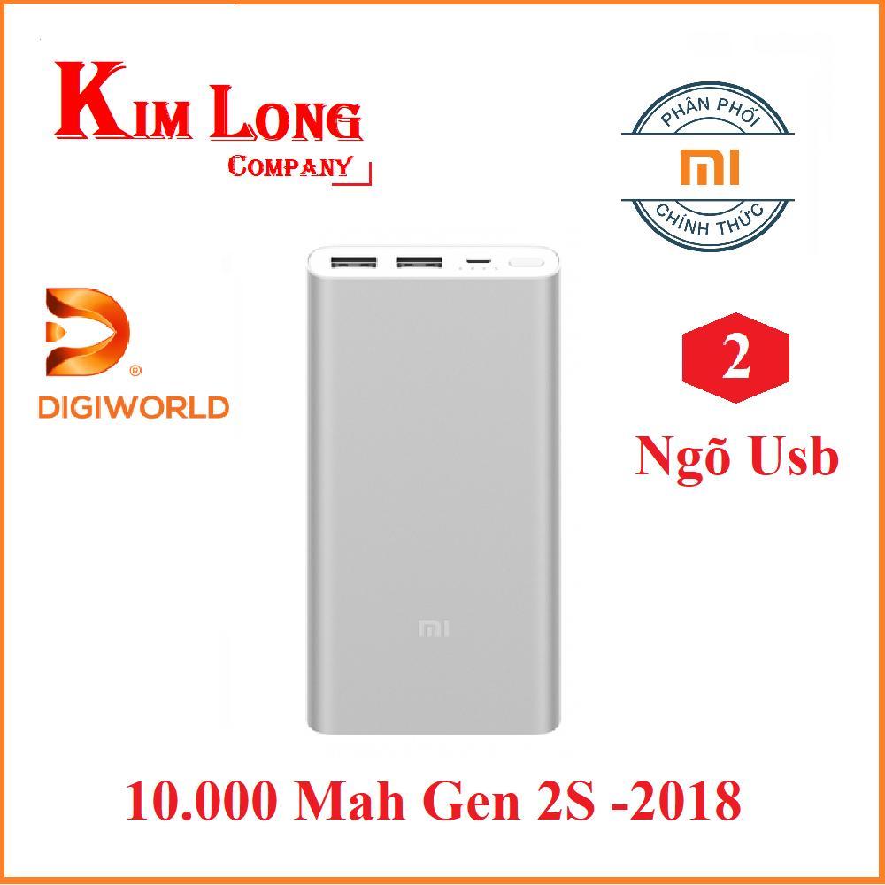 Hình ảnh Pin sạc dự phòng Xiaomi 10000 mAh Gen 2S Quick Charge 3.0 - Digiworld phân phối chính thức