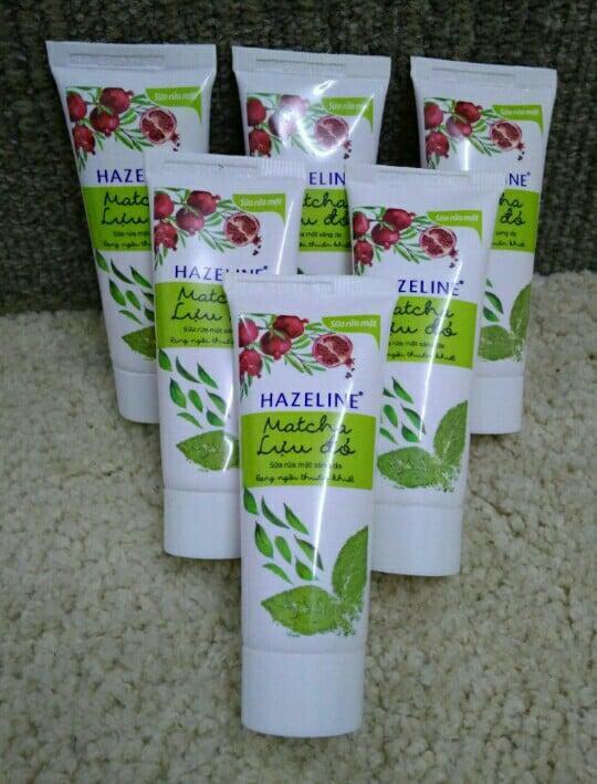 Hình ảnh Combo 5 tuýp srm Hazeline lựu đỏ + tặng 1 túi đựng mỹ phẩm xinh xắn