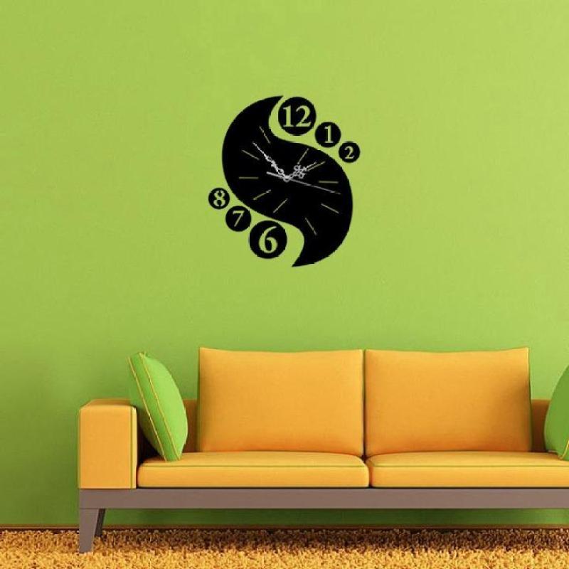 Đồng hồ dán tường nghệ thuật DIY - Chữ S bán chạy
