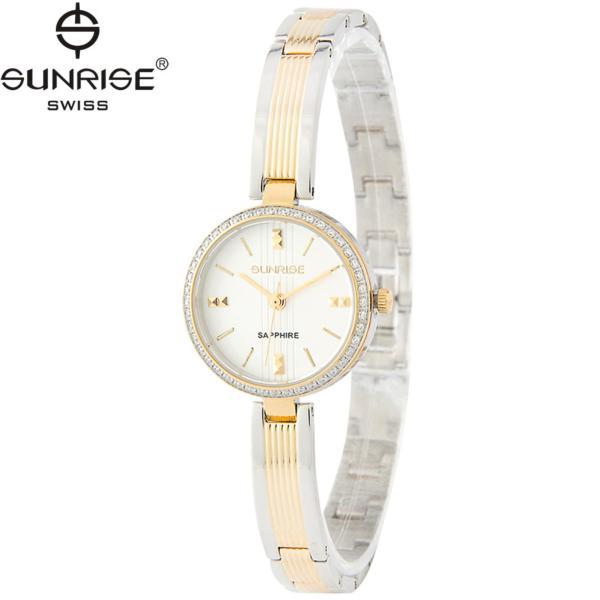Đồng hồ nữ dây kim loại mặt kính sapphire chống xước Sunrise SL903DLSK