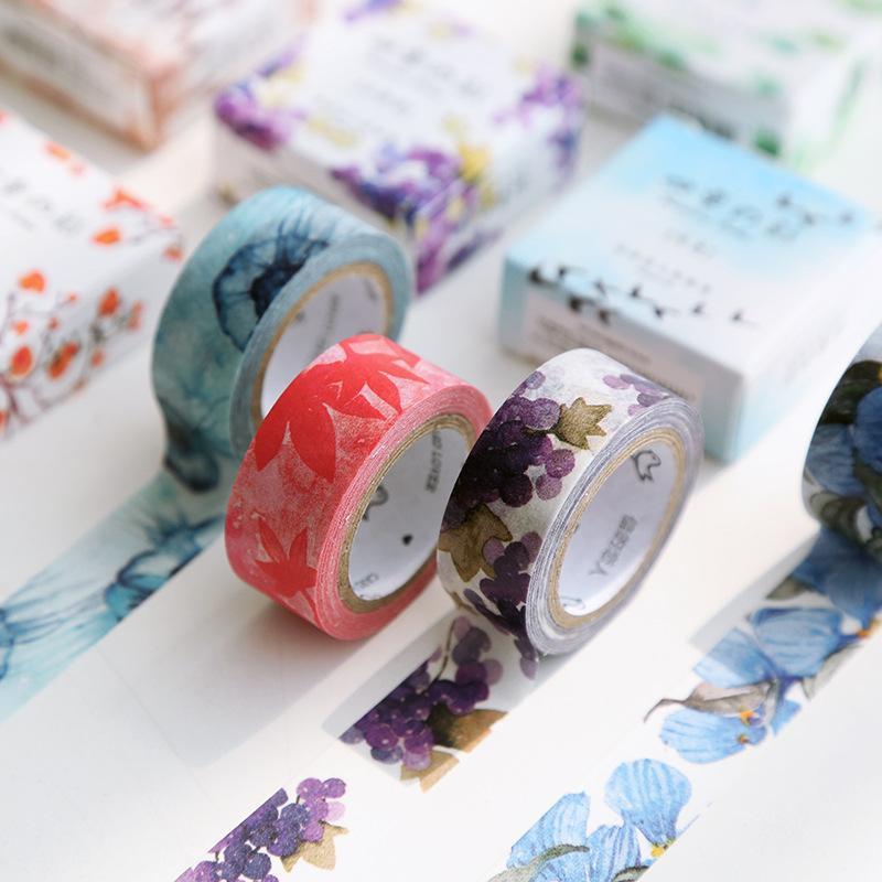 Mua 3 Rolls 7M Japanese Cute Kawaii Colorful Flowers Leaf Masking Washi Tape Decorative Adhesive Tape Diy Scrapbooking School Office Supply - intl