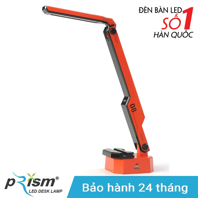 Đèn bàn LED PRISM Hàn Quốc M-08RD công suất 9.5W ánh sáng đổi màu chống cận bảo vệ mắt (Đỏ)