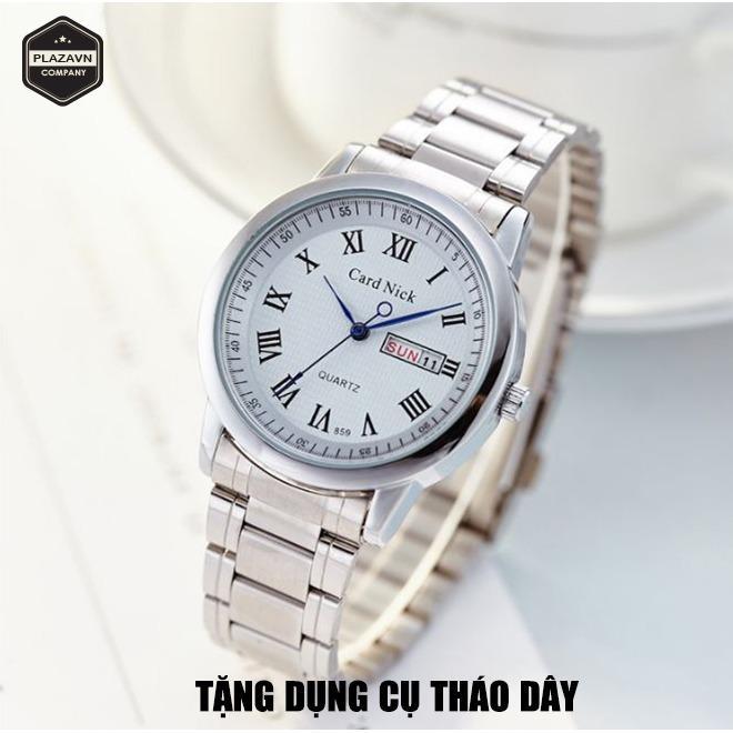 Đòng Hò Nam Cardnick New Model 7099 Day Thép Khong Gỉ Có Lịch Ngày Lịch Thứ Tặng Quà Cardnick Chiết Khấu