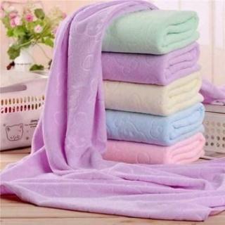 Khăn tắm Nhật Bản siêu mịn hình gấu cute 100 % cotton Nhật Bản, 70x140cm ( Sản phẩm chất lượng cao- màu ngẫu nhiên) thumbnail
