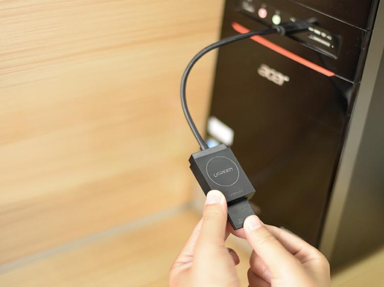 Đầu đọc thẻ USB 3.0 Card Reader Hỗ trợ thẻ TF và SD dài 15CM UGREEN CR127 20250
