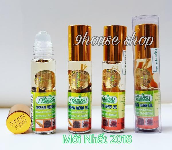 (Nội địa Thái) Lốc 12 Chai Dầu Nhân Sâm Green Herb Oil Thái Lan) 8ml/chai