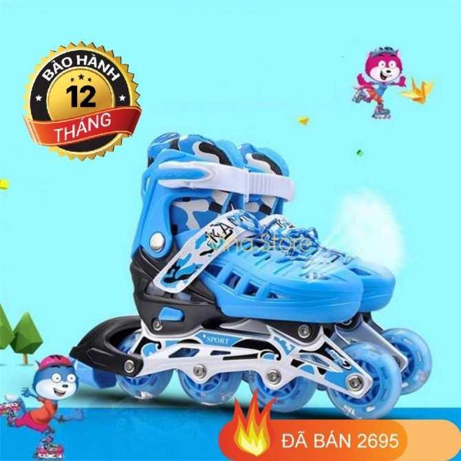 Giá Giày Trượt Băng,Giày Trượt Patin Trẻ Em Cao Cấp Chắc Chắn , Ôm Chân , Thoáng Khí ,An Toàn -Tặng Kèm Bộ Đồ Bảo Hộ Khi Trượt Patin