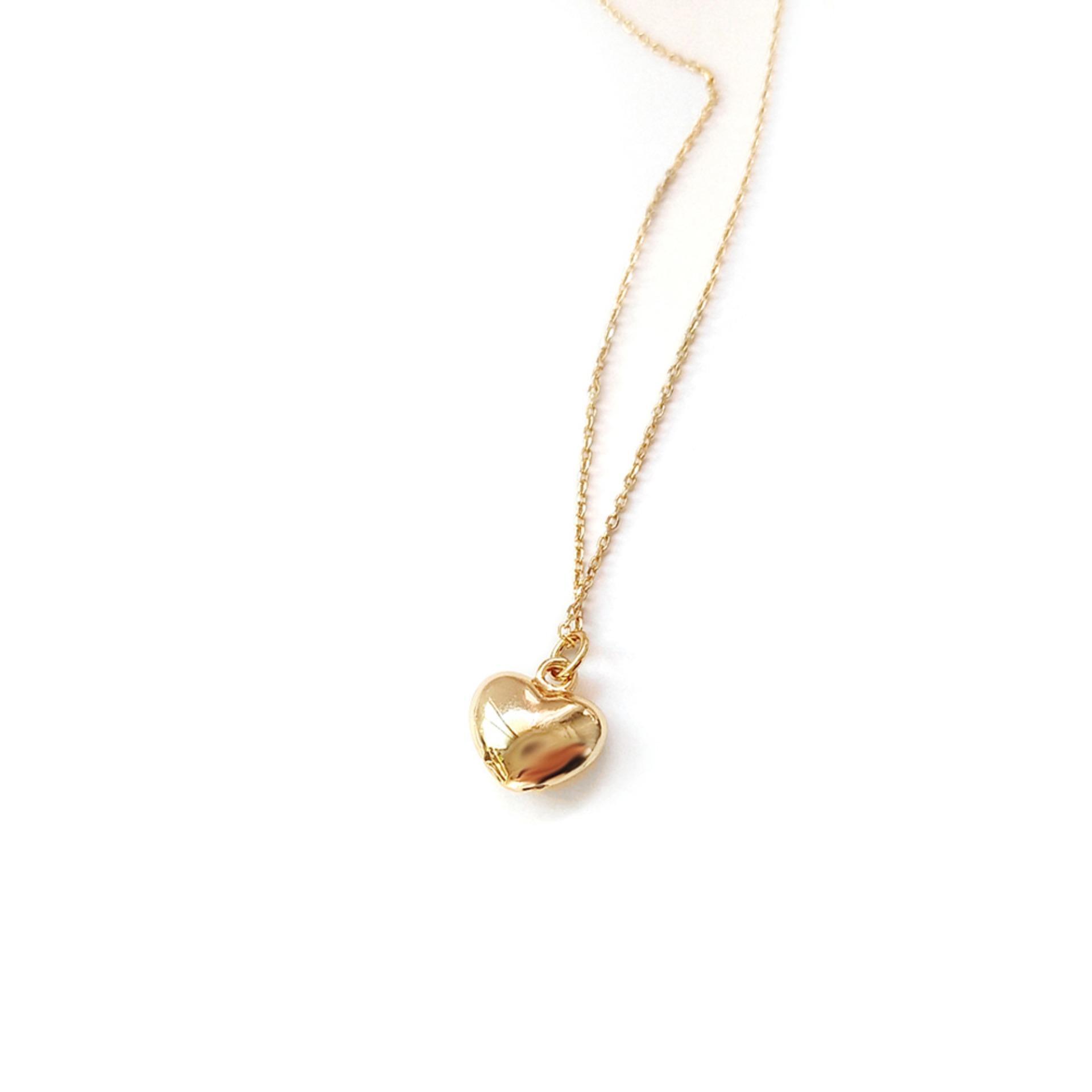 Dây chuyền nữ  2018 JK Silver -  Korea Design Bạc thật 925 mạ vàng 18K - kiểu dáng tròn trendy trẻ trung