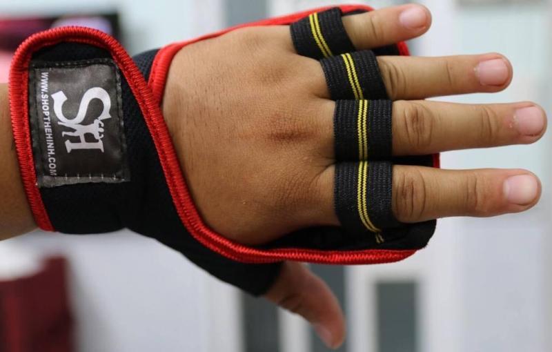 RẺ VÔ ĐỊCH Cặp bao tay găng tay tập GYM dây dán SHT Tặng miễn phí khi mua đai lưng mềm