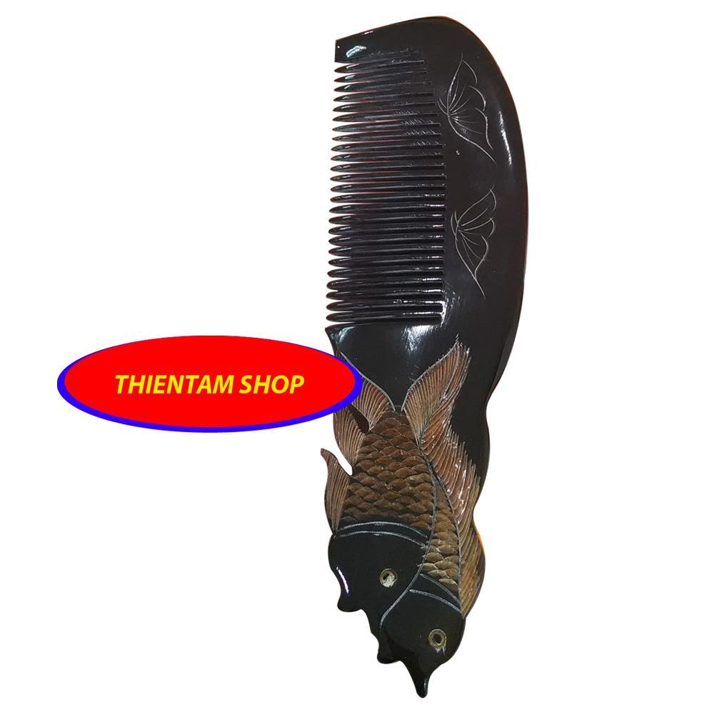 Lược trải đầu sừng trâu đen cặp cá vàng xinh xắn (LST01) tốt nhất