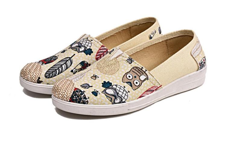 Giày Lười Slip On Nữ Thời Trang Đế Mềm - cực xinh , đáng yêu giá rẻ