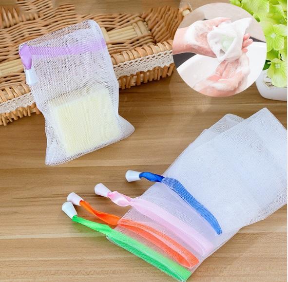 Combo 10 túi lưới tạo bọt xà phòng tắm , rửa mặt