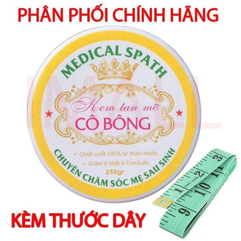 Kem tan mỡ Cô Bông (250g) giúp giảm mỡ bụng tặng thước dây nhập khẩu