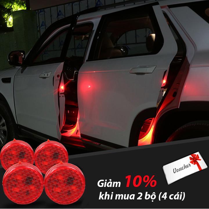 Bộ 2 đèn LED đỏ cảnh báo an toàn cho bạn và người đi đường khi mở cửa xe ô tô, xe hơi, xe tải, container _ LMC (đỏ, xanh, vàng)
