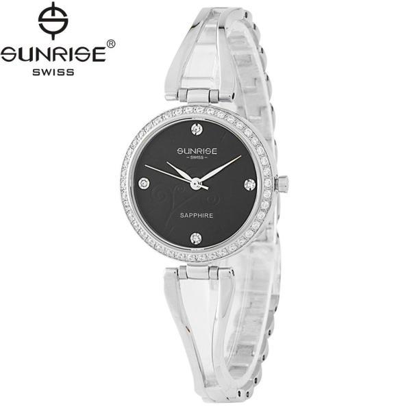 Đồng hồ nữ dây kim loại mặt kính sapphire chống xước Sunrise SL9934DLK