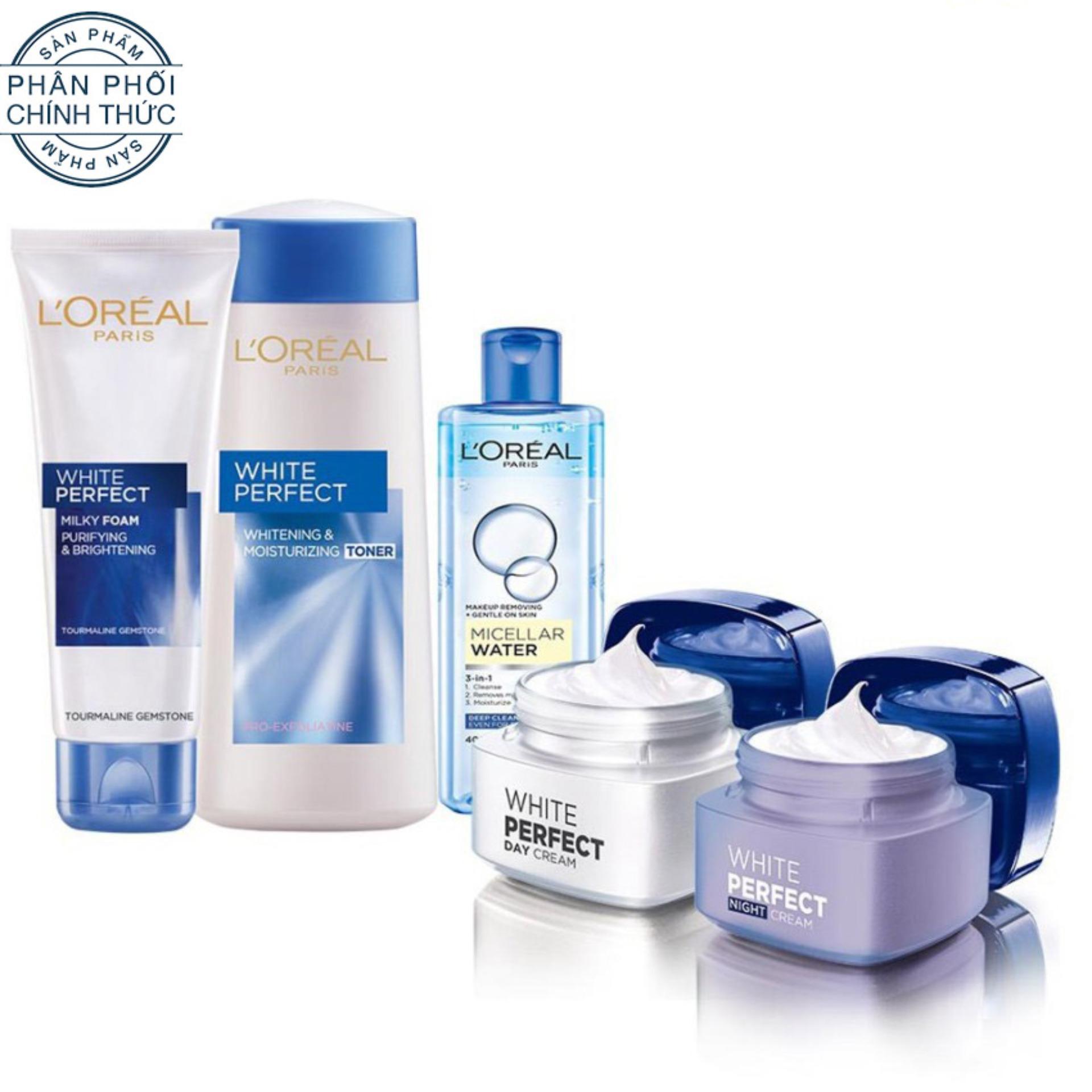 Hình ảnh Set quà tặng đặc biệt: Bộ sản phẩm làm trắng thanh khiết và dưỡng ẩm da L'Oreal Paris White Perfect