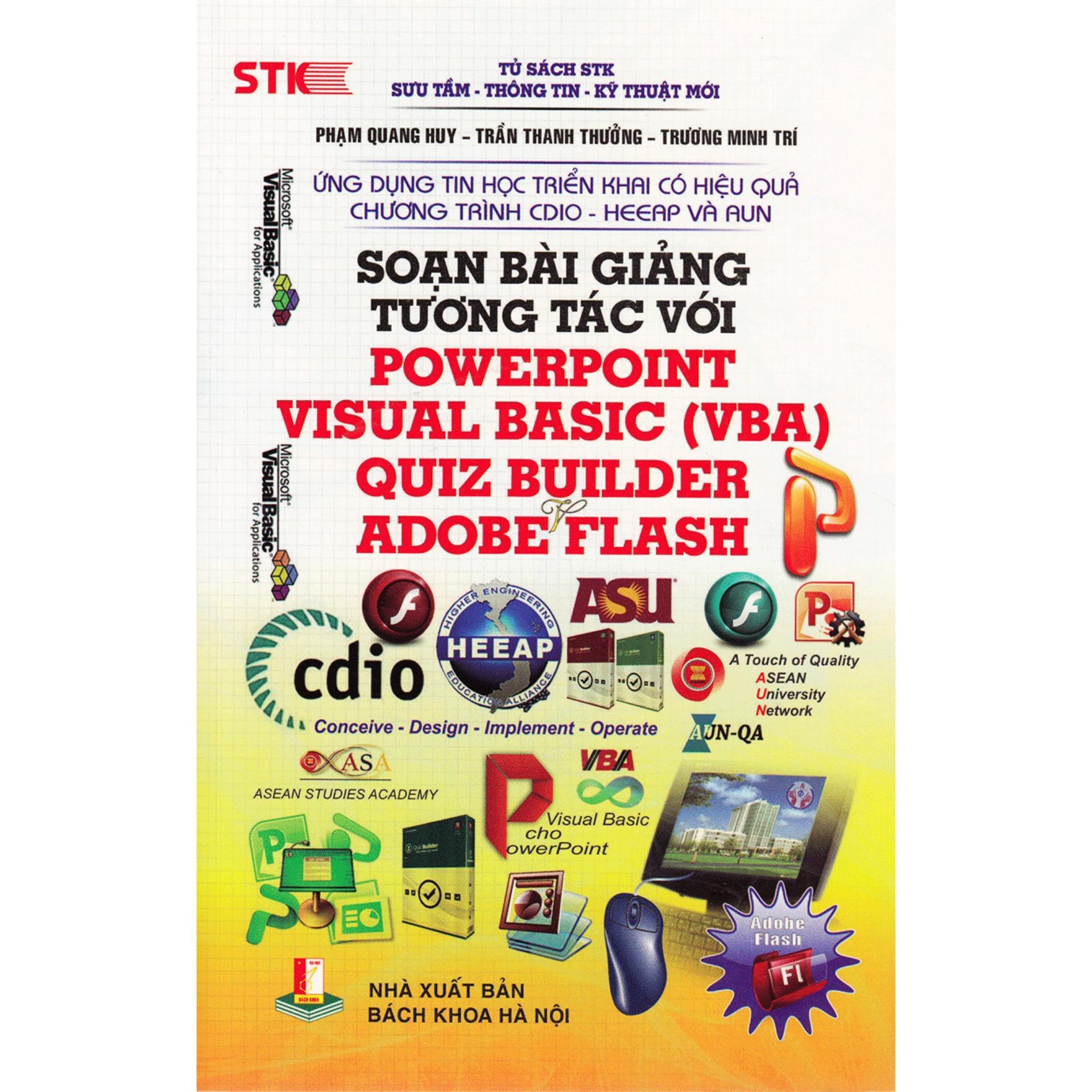 Mua Soạn Bài Giảng Tương Tác Với PowerPoint Visual Basic (VBA), Quiz Builder, Adobe Flash