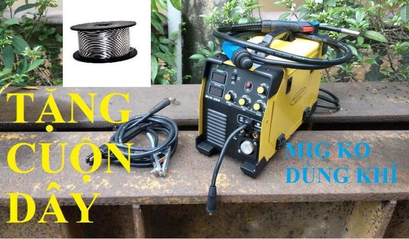 Máy hàn Mig mini 200A không dùng khí (tặng cuộn dây hàn)