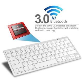 Bàn phím không dây bluetooth cho Iphone, Ipad, Samsung, Smartphone (Trắng)-Bàn phím không dây cho điện thoại thumbnail