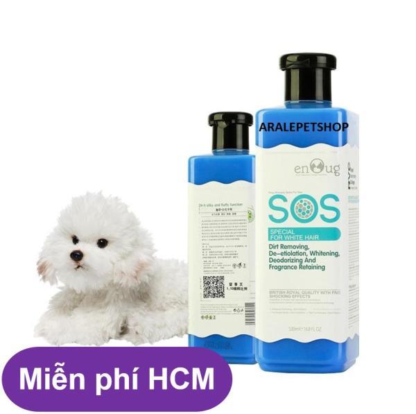 HCM-Sữa Tắm SOS xanh dương - 530ml - cho chó mèo lông trắng ( 366c)-HP10781TC khử mùi, diệt khuẩn giữ ẩm cho da lưu hương thơm lâu