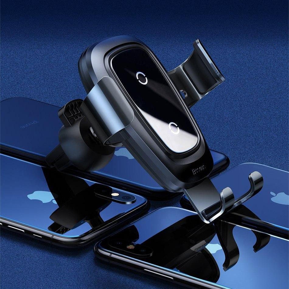 Hình ảnh Baseus Qi Sạc Không Dây Giữ Xe đối với iPhone X 8 Samsung S9 Cộng Với Điện Thoại Di Động Chủ Đứng Air Vent Núi xe Người Giữ Điện Thoại